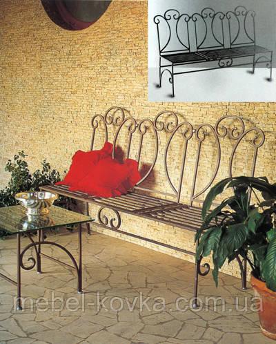 Кованый диван 22(секционные подушки просчитывать отдельно)