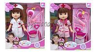 Кукла Доктор A301  2 вида,  шприц,  стетоскоп,  планшет,  в коробке