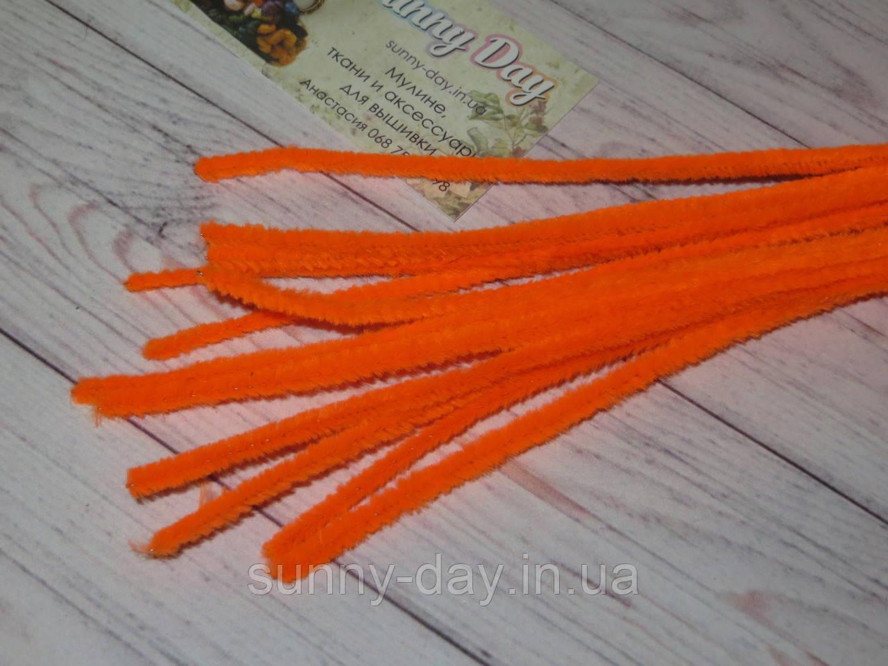 Синельная проволока, оранжевая яркая