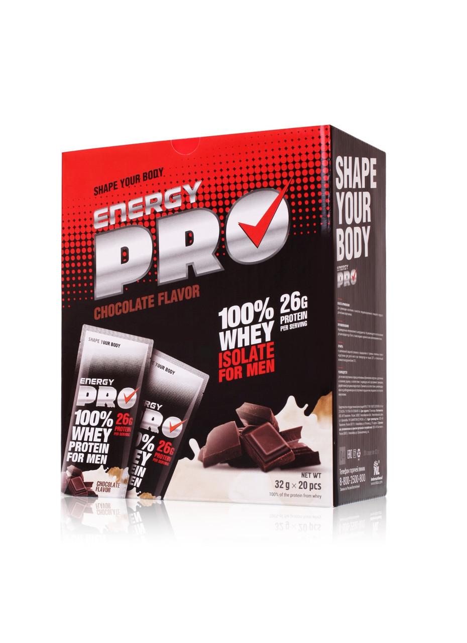Сироватковий протеїн Energy Pro шоколад, для чоловіків