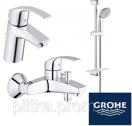 Набор смесителей для ванны Grohe Eurosmart 123238(33265002 + 33300002 + 279260), фото 2