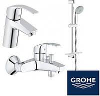 Набор смесителей для ванны Grohe Eurosmart 123238(33265002 + 33300002 + 279260)