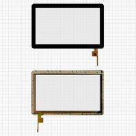 """Сенсорный экран для планшетов China-Tablet PC 10,1""""; GoClever Tab A103, 10,1"""", 155 мм, 250 мм, 6 pin, тип 1, емкостный, черный, #Topsun_M1003_A1"""