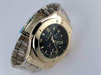 Мужские часы HUBLOT - стальной браслет, цвет корпуса gold, кварцевый механизм