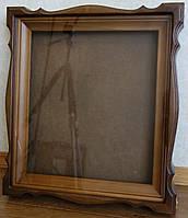 Киот для иконы фигурный, с деревянным багетом., фото 1