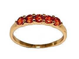 Кольцо  фирмы Xuping. Камни: оранжевый циркон. Цвет: позолота. Есть  17 р.