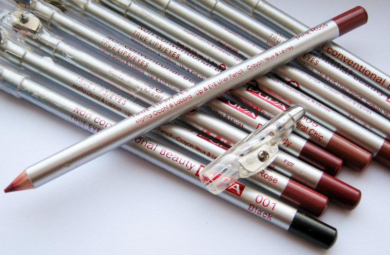 Контурные карандаши для губ и глаз Pupa