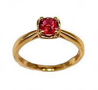 Кольцо  фирмы Xuping. Камни: малиновый циркон. Цвет: позолота. Есть 17 р.  18 р.  19 р.