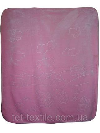 Плед детский акриловый (розовый), фото 2