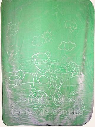 Плед детский акриловый (салатовый), фото 2