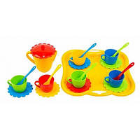 Набор игрушечной посуды Ромашка с подносом 22 элемента (39086)