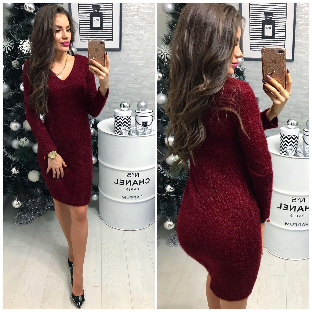 Платье (802/2) ангора софт марсала