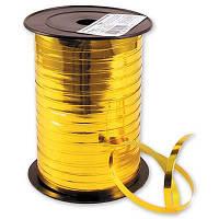 Лента для подарков 0.5 см*150 м фольга золото