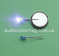 Светодиод 3V 3 мм, диффузный, цвет синий