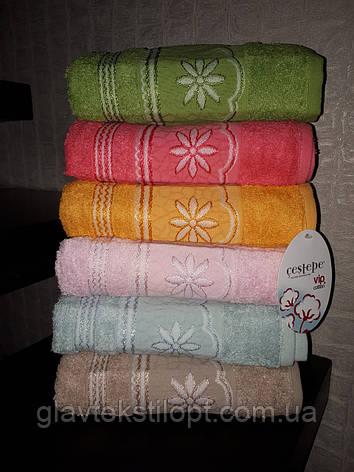 Махровое полотенце 50*90 Cestepe Vip Cotton Турция, фото 2