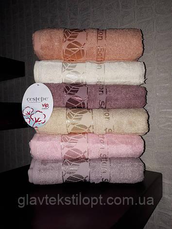 Махровий рушник 50*90 Cestepe Vip Cotton Туреччина, фото 2