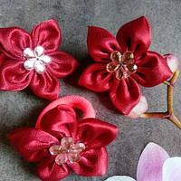 Цветочки на резиночках,крассные