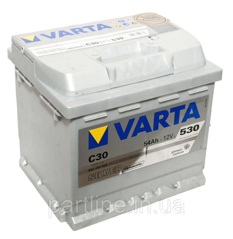 Аккумулятор VARTA Silver Dynamic С30 (554400053) 6СТ-54, 530En, габариты 207х175х190, гарантия 24 мес.