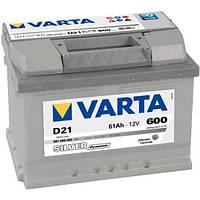 Аккумулятор VARTA Silver Dynamic D21 (561400060) 6СТ-61, 600En, габариты 242х175х175, гарантия 24 мес.