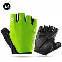 Спортивные летние вело перчатки Rockbros Glove S106 M Green, фото 1