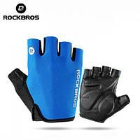 Спортивные летние вело перчатки Rockbros Glove S106 L Blue, фото 1