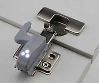 Встраиваемая LED подсветка для мебельных петель світодіодна підсвітка шафи шкафа антресоли светодиодная
