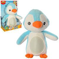 Ночник Пингвин (плюшевый) голубой 0160-NL музыкальный со звуками природы в коробке 16х24,5х16 смWinFun