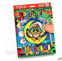 """Картинка (Фреска) из песка """"SantАrt"""" СОВА DankoToys, SA-01-03"""
