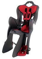 Детские сиденья для велосипедов Bellelli B1 Clamp на багажник сірий/червоний (395408)