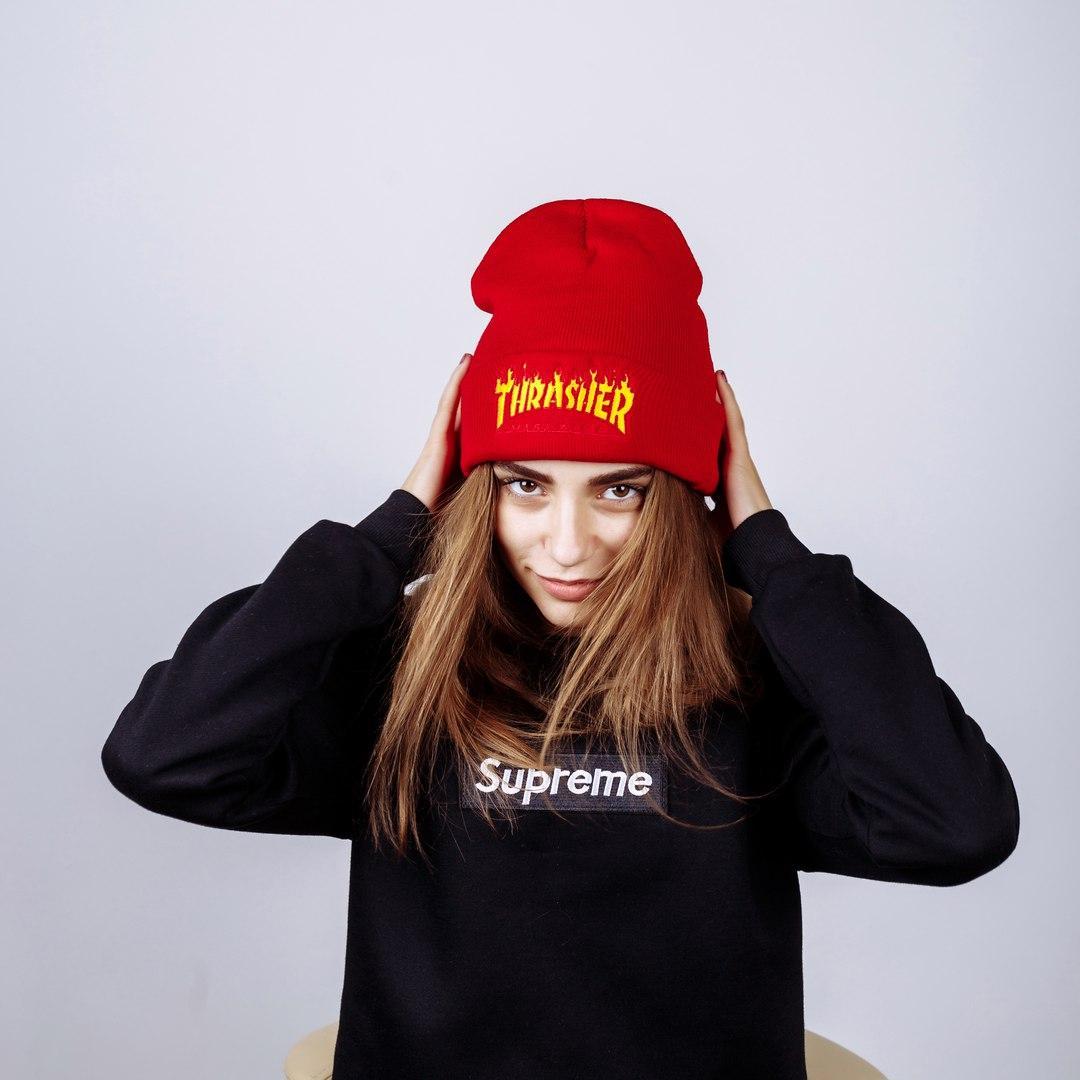 Шапка жіноча Trasher Red - Інтернет-магазин одягу та аксесуарів