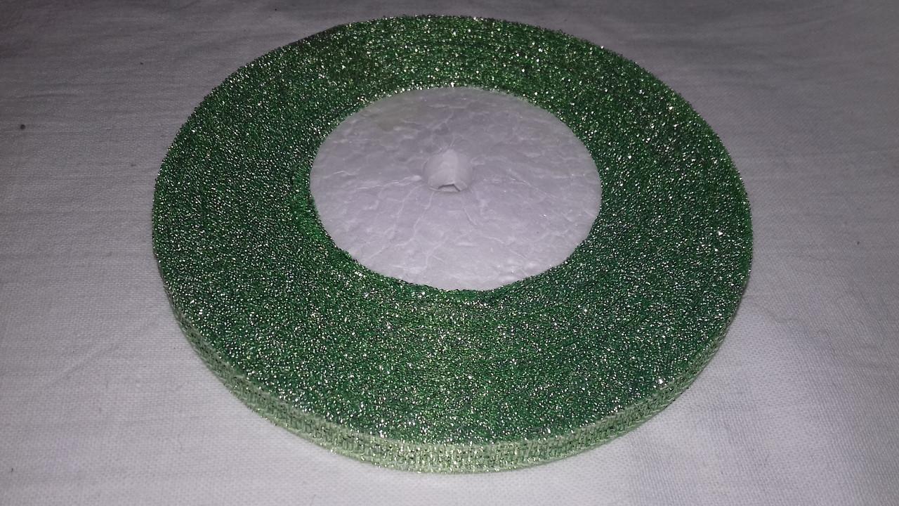 Парчовая лента 6 мм зеленая