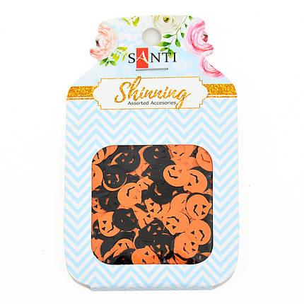 "Набор пайеток-аппликаций ""Santi"" 12 грамм, 2 цвета ""Halloween"" 741495, фото 2"