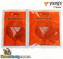 Средство для осветления вина и браги Young's Wine Finings