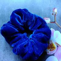 Резинка велюровая,синяя.