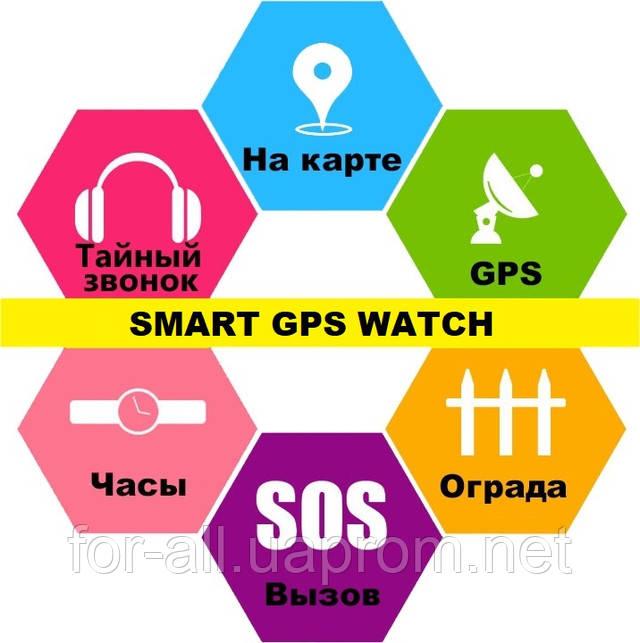 Детские и взрослые часы с GPS трекером