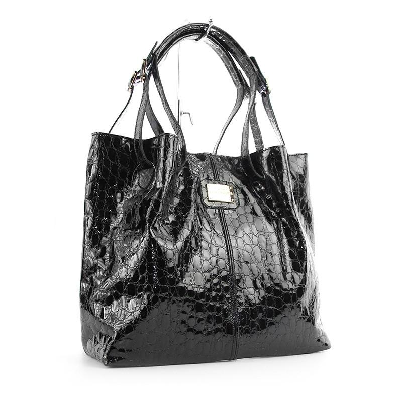 8d5405b1df39 Сумка женская кожаная лаковая шоппер на плечо - Интернет магазин сумок  SUMKOFF - женские и мужские
