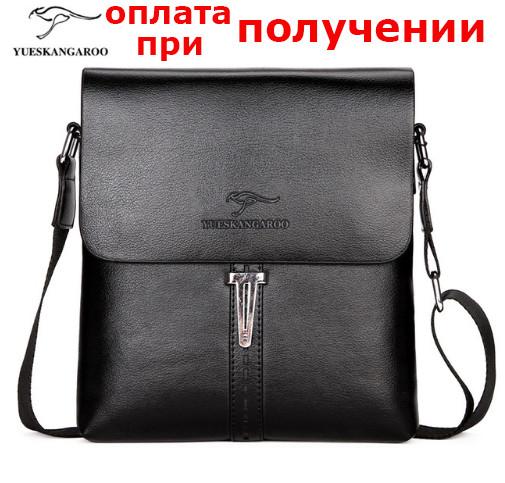 Мужская кожаная брендовая сумка барсетка Kangaroo FOYIDAISHU купить