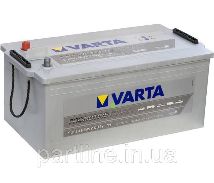 Грузовой аккумулятор 6СТ-225 VARTA Promotive Silver N9 (725103115), 1150En, габариты 518х276х242