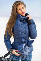 Куртка темно-синяя с высоким воротом Gepur 13628