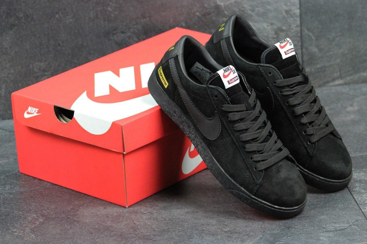 Кроссовки Nike Supreme мужские (черные), ТОП-реплика