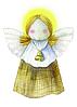 """Рождественская открытка """"Ангел"""""""