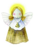"""Открытка """"Рождественский ангел"""""""
