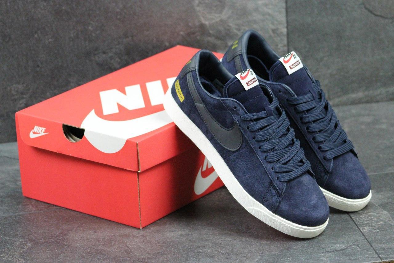 Кроссовки Nike Supreme мужские (синие), ТОП-реплика