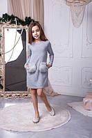 Праздничное платье с мехом  140  152 158