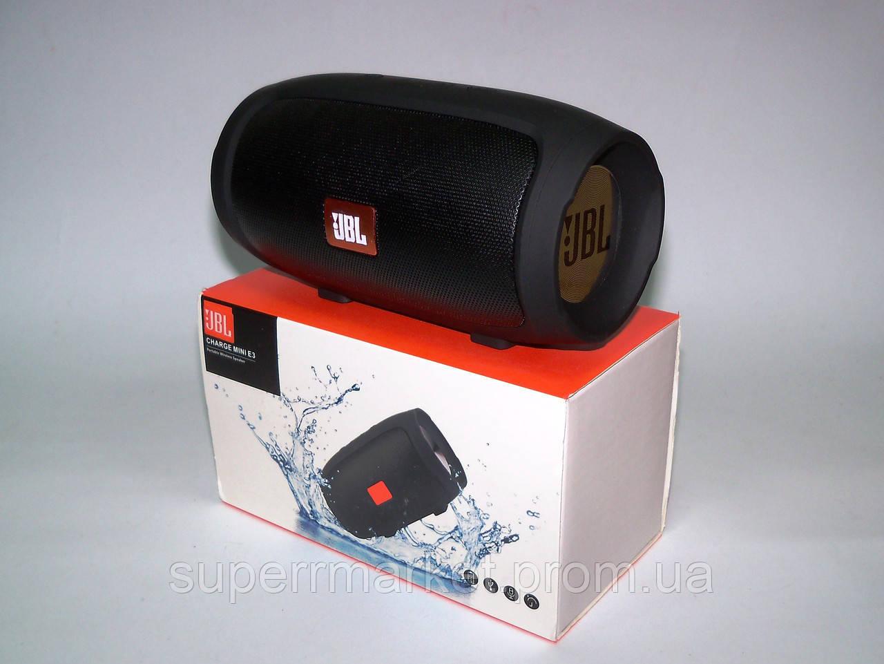 JBL Charge 3 mini E3  E4 0076  копия, портативная колонка с Bluetooth FM MP3, black