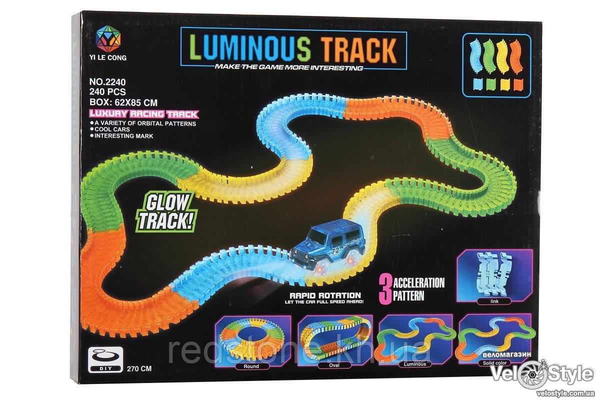 Cветящийся трек Magic Trecks 2165 + машина cветящаяся 240 дет.