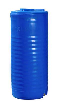 Бак, бочка 100 литров емкость пищевая двухслойная узкая ертикальная RVД У, фото 2