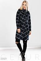 Шерстяное пальто клетка Gepur 23651