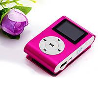 Mp3 player плеер c мини ЖК дисплеем на карту памяти Micro SD розовый, фото 1