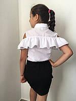 Детская блузка с оборкой и открытыми плечами, фото 1